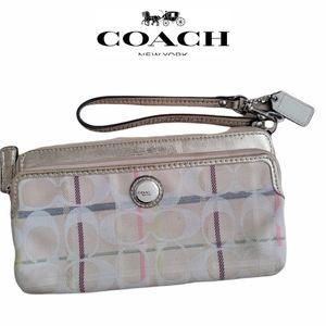 Coach Lovely Plaid Wristlet